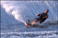 water ski on lake