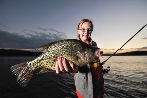 Girl with crappie fish