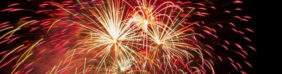 Fireworks over Norfork Lake