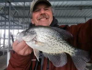 Man with Crappie fish Norfork Lake