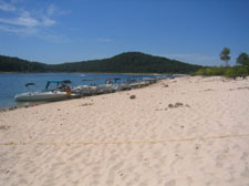 Sand beach at Norfork Lake