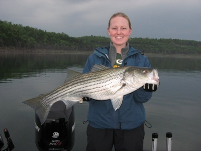 Woman with big striper