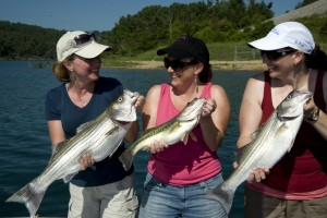Girls fishing trip on Norfork Lake