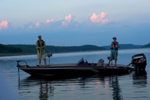Sunrise fishing trip on Norfork Lake